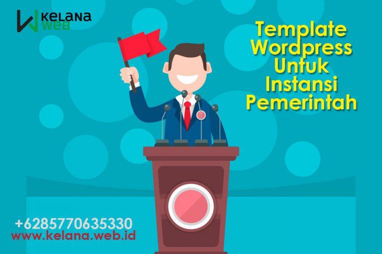 Template WordPress Untuk Instansi Pemerintah