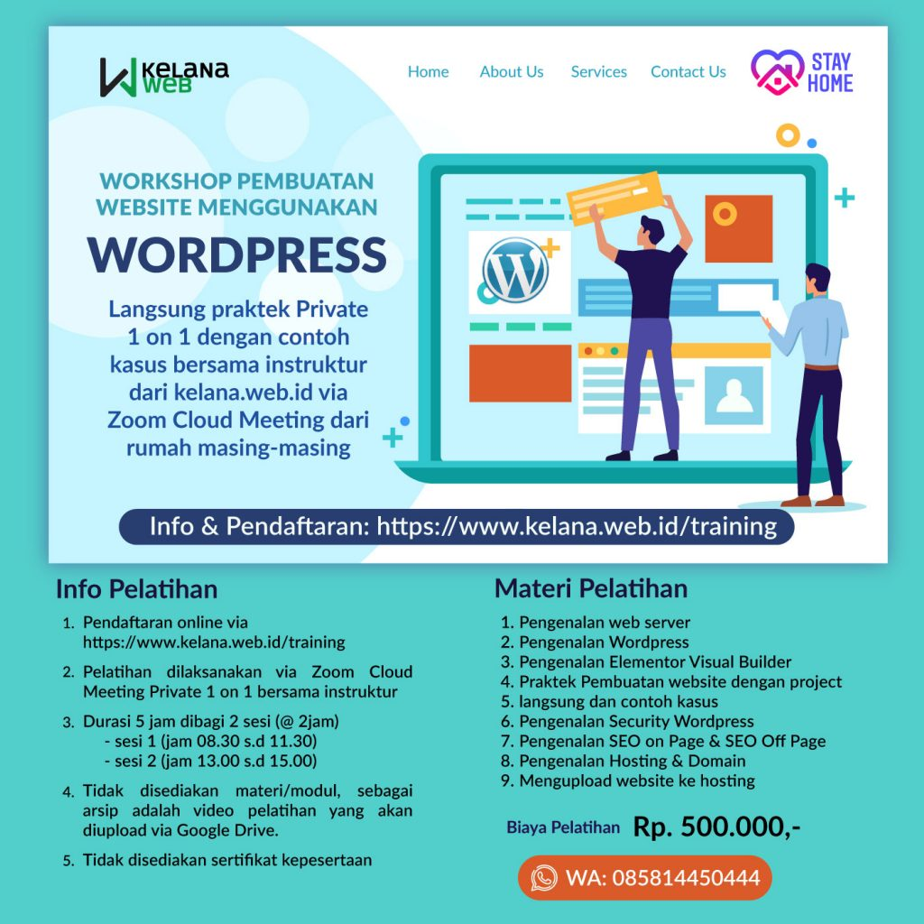 Pelatihan Pembuatan Website dengan WordPress